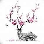 фото Эскизы тату Сакура от 27.01.2018 №011 - Sketches of Sakura tattoo - tatufoto.com