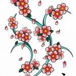 фото Эскизы тату Сакура от 27.01.2018 №025 - Sketches of Sakura tattoo - tatufoto.com