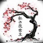 фото Эскизы тату Сакура от 27.01.2018 №035 - Sketches of Sakura tattoo - tatufoto.com