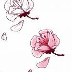 фото Эскизы тату Сакура от 27.01.2018 №038 - Sketches of Sakura tattoo - tatufoto.com