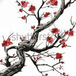 фото Эскизы тату Сакура от 27.01.2018 №048 - Sketches of Sakura tattoo - tatufoto.com