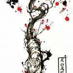 фото Эскизы тату Сакура от 27.01.2018 №058 - Sketches of Sakura tattoo - tatufoto.com