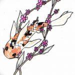 фото Эскизы тату Сакура от 27.01.2018 №059 - Sketches of Sakura tattoo - tatufoto.com