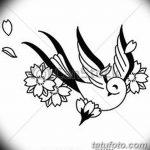 фото Эскизы тату Сакура от 27.01.2018 №061 - Sketches of Sakura tattoo - tatufoto.com