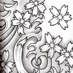 фото Эскизы тату Сакура от 27.01.2018 №062 - Sketches of Sakura tattoo - tatufoto.com