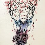 фото Эскизы тату Сакура от 27.01.2018 №072 - Sketches of Sakura tattoo - tatufoto.com