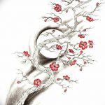 фото Эскизы тату Сакура от 27.01.2018 №073 - Sketches of Sakura tattoo - tatufoto.com