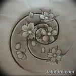 фото Эскизы тату Сакура от 27.01.2018 №076 - Sketches of Sakura tattoo - tatufoto.com