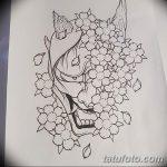 фото Эскизы тату Сакура от 27.01.2018 №077 - Sketches of Sakura tattoo - tatufoto.com
