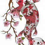 фото Эскизы тату Сакура от 27.01.2018 №078 - Sketches of Sakura tattoo - tatufoto.com