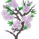 фото Эскизы тату Сакура от 27.01.2018 №081 - Sketches of Sakura tattoo - tatufoto.com