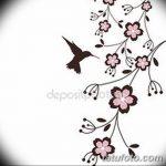 фото Эскизы тату Сакура от 27.01.2018 №085 - Sketches of Sakura tattoo - tatufoto.com