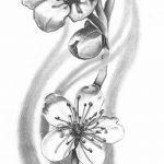 фото Эскизы тату Сакура от 27.01.2018 №089 - Sketches of Sakura tattoo - tatufoto.com