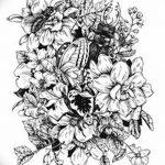 фото Эскизы тату Сакура от 27.01.2018 №091 - Sketches of Sakura tattoo - tatufoto.com