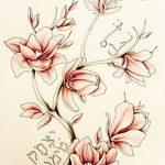 фото Эскизы тату Сакура от 27.01.2018 №092 - Sketches of Sakura tattoo - tatufoto.com
