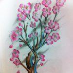 фото Эскизы тату Сакура от 27.01.2018 №095 - Sketches of Sakura tattoo - tatufoto.com