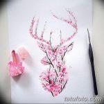 фото Эскизы тату Сакура от 27.01.2018 №100 - Sketches of Sakura tattoo - tatufoto.com