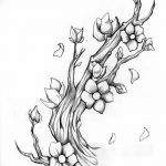 фото Эскизы тату Сакура от 27.01.2018 №111 - Sketches of Sakura tattoo - tatufoto.com