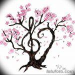 фото Эскизы тату Сакура от 27.01.2018 №117 - Sketches of Sakura tattoo - tatufoto.com