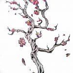 фото Эскизы тату Сакура от 27.01.2018 №119 - Sketches of Sakura tattoo - tatufoto.com
