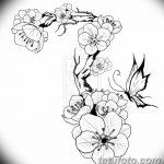 фото Эскизы тату Сакура от 27.01.2018 №122 - Sketches of Sakura tattoo - tatufoto.com