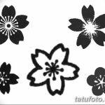 фото Эскизы тату Сакура от 27.01.2018 №127 - Sketches of Sakura tattoo - tatufoto.com