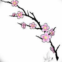 Эскизы тату «Сакура»
