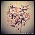 фото Эскизы тату Сакура от 27.01.2018 №144 - Sketches of Sakura tattoo - tatufoto.com