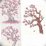 фото Эскизы тату Сакура от 27.01.2018 №145 - Sketches of Sakura tattoo - tatufoto.com