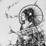 фото Эскизы тату Сакура от 27.01.2018 №148 - Sketches of Sakura tattoo - tatufoto.com