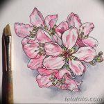 фото Эскизы тату Сакура от 27.01.2018 №150 - Sketches of Sakura tattoo - tatufoto.com