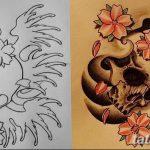 фото Эскизы тату Сакура от 27.01.2018 №165 - Sketches of Sakura tattoo - tatufoto.com