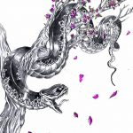 фото Эскизы тату Сакура от 27.01.2018 №166 - Sketches of Sakura tattoo - tatufoto.com