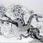 фото Эскизы тату Сакура от 27.01.2018 №167 - Sketches of Sakura tattoo - tatufoto.com