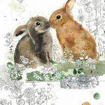 фото Эскизы тату кролик от 09.01.2018 №010 - Sketches of a rabbit tattoo - tatufoto.com