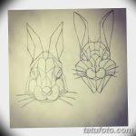 фото Эскизы тату кролик от 09.01.2018 №019 - Sketches of a rabbit tattoo - tatufoto.com