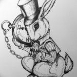 фото Эскизы тату кролик от 09.01.2018 №027 - Sketches of a rabbit tattoo - tatufoto.com