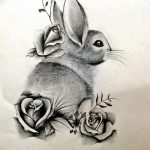 фото Эскизы тату кролик от 09.01.2018 №029 - Sketches of a rabbit tattoo - tatufoto.com