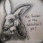 фото Эскизы тату кролик от 09.01.2018 №033 - Sketches of a rabbit tattoo - tatufoto.com