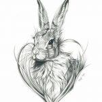 фото Эскизы тату кролик от 09.01.2018 №034 - Sketches of a rabbit tattoo - tatufoto.com