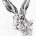 фото Эскизы тату кролик от 09.01.2018 №039 - Sketches of a rabbit tattoo - tatufoto.com