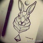 фото Эскизы тату кролик от 09.01.2018 №059 - Sketches of a rabbit tattoo - tatufoto.com