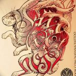 фото Эскизы тату кролик от 09.01.2018 №061 - Sketches of a rabbit tattoo - tatufoto.com