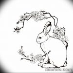 фото Эскизы тату кролик от 09.01.2018 №063 - Sketches of a rabbit tattoo - tatufoto.com