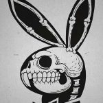 фото Эскизы тату кролик от 09.01.2018 №067 - Sketches of a rabbit tattoo - tatufoto.com