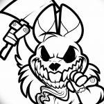 фото Эскизы тату кролик от 09.01.2018 №070 - Sketches of a rabbit tattoo - tatufoto.com