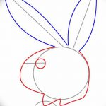 фото Эскизы тату кролик от 09.01.2018 №071 - Sketches of a rabbit tattoo - tatufoto.com