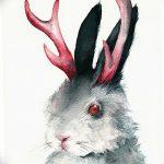 фото Эскизы тату кролик от 09.01.2018 №072 - Sketches of a rabbit tattoo - tatufoto.com