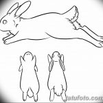 фото Эскизы тату кролик от 09.01.2018 №083 - Sketches of a rabbit tattoo - tatufoto.com