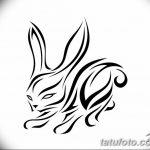 фото Эскизы тату кролик от 09.01.2018 №086 - Sketches of a rabbit tattoo - tatufoto.com